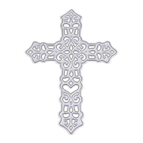 Koehope Stanssjablonen voor het maken van kruis, metalen sjablonen voor het zelf maken van scrapbooking, album, snijsjablonen, papier en kaarten