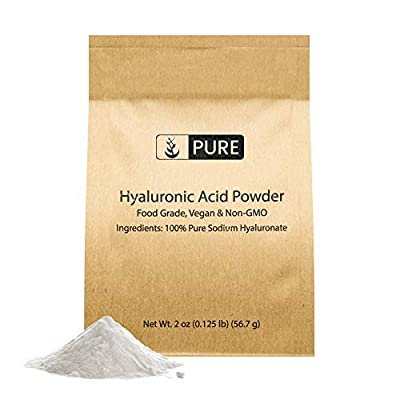 Hyaluronic Acid Powder (2 oz) Food & Cosmetic Grade, Naturally Sourced, Non-GMO & Gluten-Free, Vegan, Made in USA