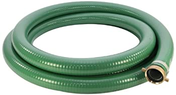 Abbott Rubber 1240-1500-20 PVC Suction Hose Assembly Green 1-1/2  Male X Female NPSM 70 psi Max Pressure 20  Length 1-1/2  ID