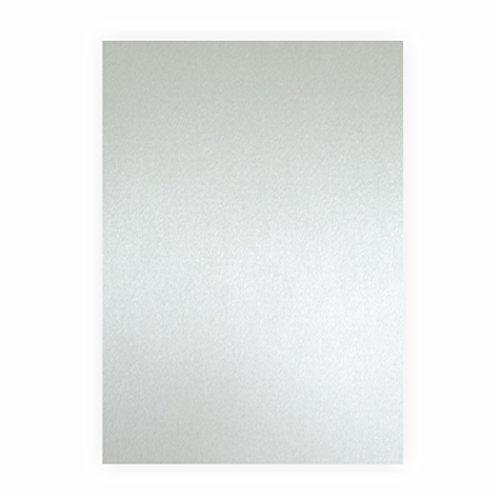 Tonpapier silber matt 130g/m², 50x70cm, 1 Bogen/Blatt