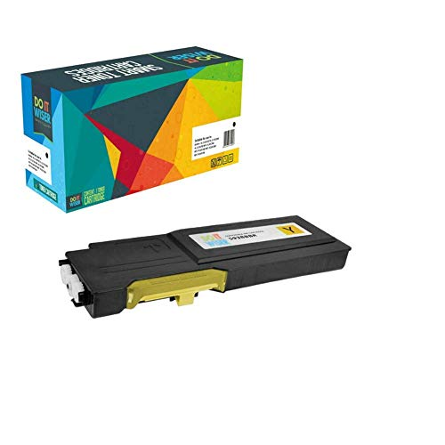 Do it wiser Compatible Toner Cartridge Replacement for Dell C2660 C2660dn C2665 C2665dnf (Yellow)