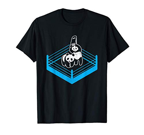 Wrestling Fight Panda Bear Chair T-Shirt