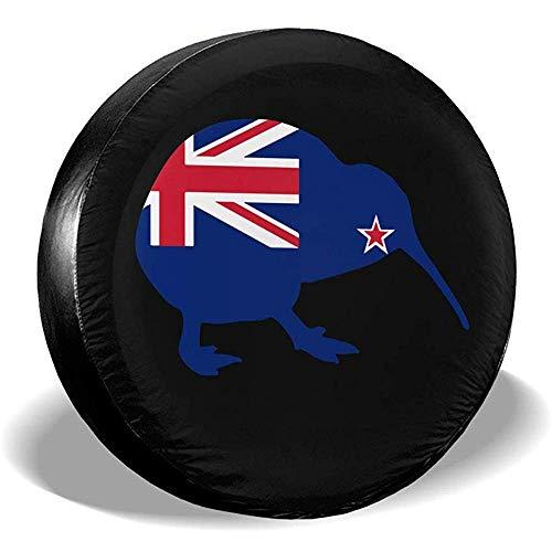 Rad-Reifen-Abdeckungen, wasserdichter Ersatzreifen-Schutz, Neuseeland-Markierungsfahnen-Kiwi-Reifen-Abdeckungen Auto-SUV-Auto-Ersatzreifen-Reifen-Abdeckung für Reifen des Durchmessers 70-75cm
