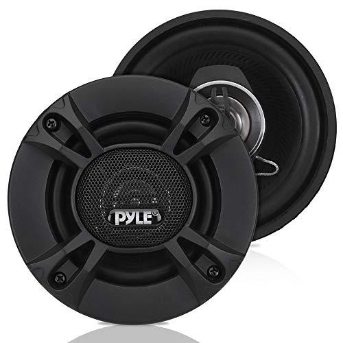 2-Way Universal Car Stereo Speakers - 240W 4 Inch Coaxial Loud Pro Audio Car Speaker Universal OEM Quick Replacement Component Speaker Vehicle Door/Side Panel Mount Compatible - Pyle PL412BK (Pair)