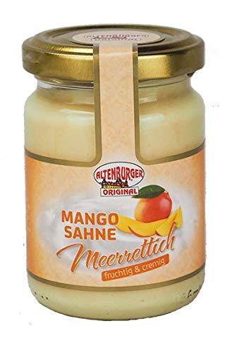 Altenburger Original Mango Sahne Meerrettich, 140g im Glas, fruchtig-cremiger Genuss passend zu Wild und Käse