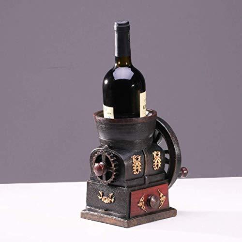 Estantería de vino Americana estante del vino de la vendimia del vino creativo decoración estante café violinista coche adornos Restaurante Bar Accesorios estante de vino pequeño ( Color : C )