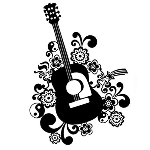 PAOPD 3 Piezas Pegatinas de Coche 13 CM × 18,3 CM Interesante Guitarra música Adecuada niños Adolescentes monopatines teléfono portátil Coche Motocicleta Bicicleta Maleta