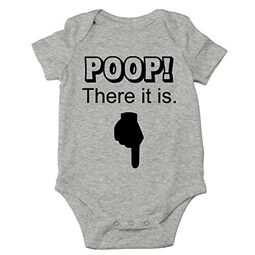 Crazy Bros Tees Poop! There It is Funny Cute Novelty - Body para bebé (una Pieza) - - 12 Meses