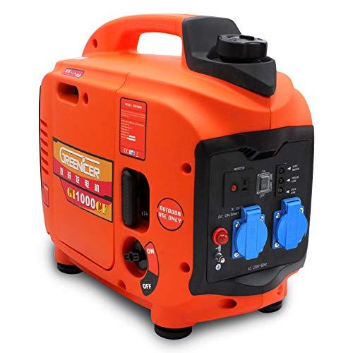 Tragbarer Generator Wechselrichter 1KW / 1,2KW Stromgenerator Notstromgenerator Stromgenerator Digitaler Benzingenerator GI1000CF