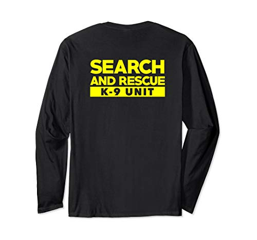 K9 Thin Orange Line Search & Rescue SAR K-9 Team Shirt