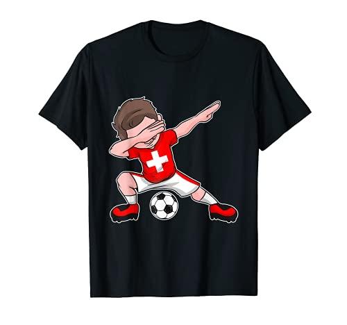 Fußball Nati Trikot Jungen schweizer Flagge Swiss T-Shirt