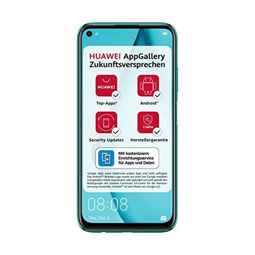 HUAWEI P40 lite Dual-SIM Smartphone B&le (16 cm (6,4 Zoll), 128 GB interner Speicher, Android 10.0 AOSP ohne Google Play Store, EMUI 10.0.1) crush green [Exklusiv +5EUR Amazon Gutschein]