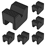 DORHEA 6PCS Rubber Jack Stand Pad for Universal Jack Stand Heavy Duty Rubber Slotted Frame Rail Pinch Welds Protector Adapter