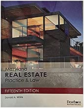 Md Real Estate Law Book