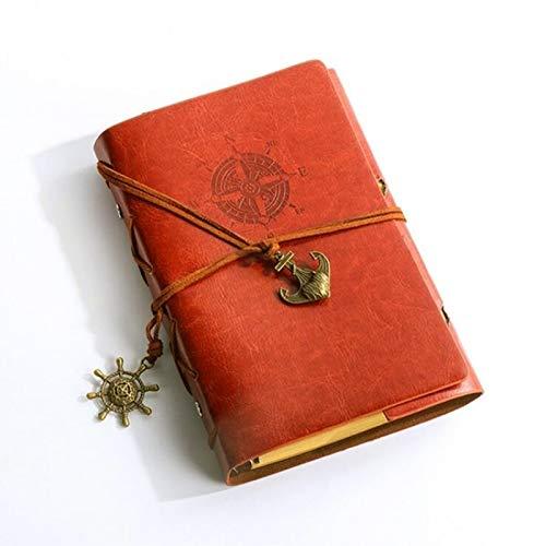 FNMYH Cuadernos Creative Corsair Anchor DE PAPELERÍA DE PAPELÍDOS DE Oficina DE Oficina DE Oficina DE Oficina Escuela Linda Libro DE Diario DE Cuaderno Espiral Retro (Color : Brown)