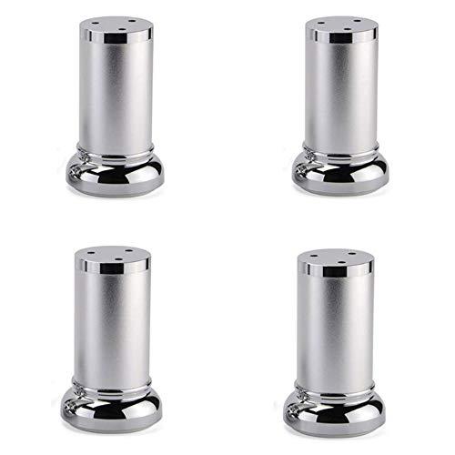GY Möbel Stützfuß,Sofa Beinstütze Fuß Tisch Fuß Stuhl Tv Schrank Schrank Halterung Couchtisch Höhenverstellbar Möbel Tischset Aluminiumlegierung/Silber / 150mm