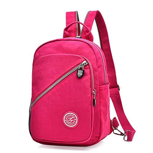 CVBGH Impermeable multifuncional lavada del bolso del pecho de la mochila de nylon y del ocio todo partido