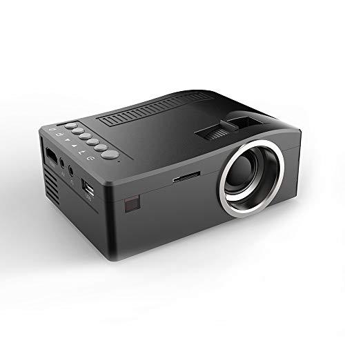 TONGTONG Kit proyector UNIC UC18 Mini proyector portátil con HDMI USB TF Card AV Cable proyector LED para Cine en casa