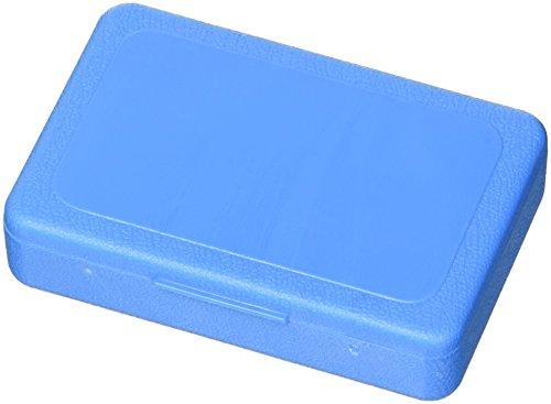 Pillendoos dagelijks, blauw doorschijnend