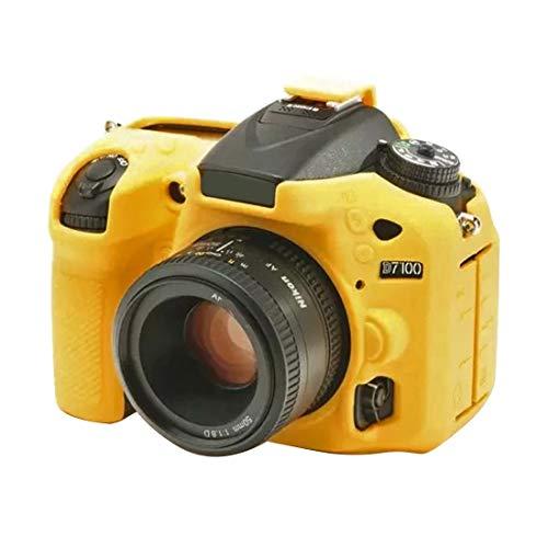 MENGHONGLLI Caja Protectora de la cámara Funda Protectora de Silicona Suave for Nikon D7200 / D7100 (Color : Amarillo)