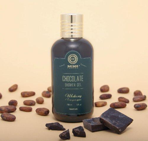 SAULES FABRIKA Damen Herren Duschgel Kosmetik Shower-Gel Wellness SPA-Erlebnis Duft: Schokolade