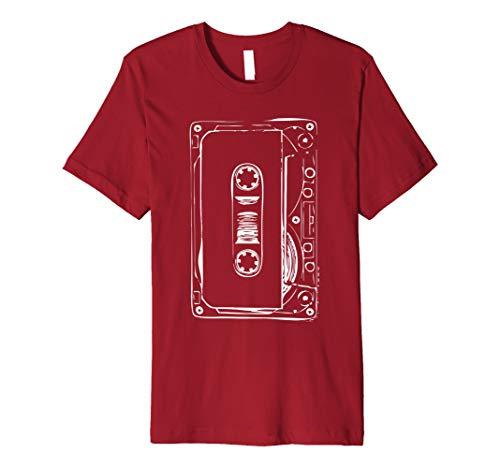 80s Blank Cassette Tape Shirt for Men, Women, 5 Colors