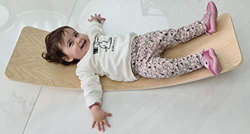 Balance Board Montessori 96x30cm | Dondolo Montessori | Montessori Wooden Board | Rocking Board | Wobble Board | Pikler | Waldorf