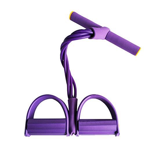 Widerstandsbänder Krafttraining 4 Cuerdas Elásticas Resistentes para Hacer EjercicioBanda De Resistencia Al VientreBandas Elásticas De Entrenamiento Deportivo para Gimnasio En Casa-Purple