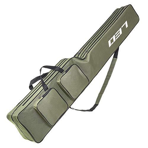 Lixada Angelrute Tasche 130cm Zwei Schicht Angelgerät Werkzeug Tragetasche Träger Reisetasche Angeln Abdeckung Tasche
