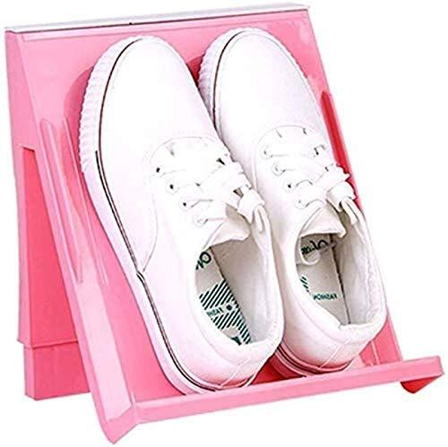 QZMX Estante de Zapatos Zapatero Zapatero Estilo japonés Vertical plástico Zapatero Espesar de Zapatos Zapatero Gabinete Estante (Color : Pink)