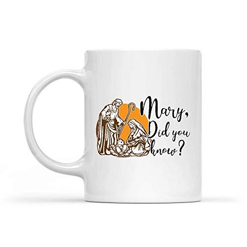 Porcelain Cup María ¿Sabías Que Natividad 330 Ml Oficina Personalizada Leche Taza De Cerámica Único Cacao Blanco Taza De Porcelana Taza De Café Regalos Té