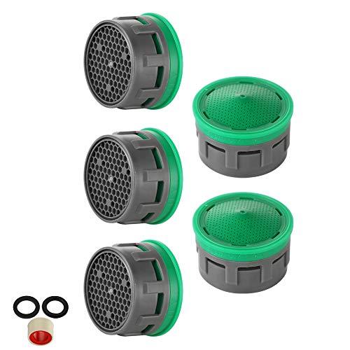 JQK Faucet Aerator, 1.5 GPM Flow Retrictor Insert Faucet Aerators Replacement Parts Bathroom 5 Pack, FAN15-P5