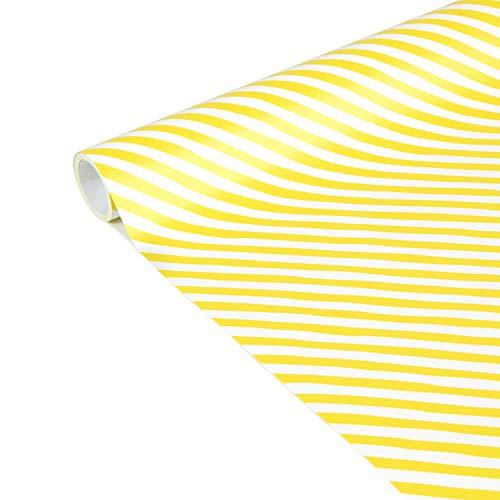 Clairefontaine 223861C Excellia Tiny Rolls - Rollo de papel de regalo (5 x 35 cm (especial pequeño) 80 g, rayas amarillas