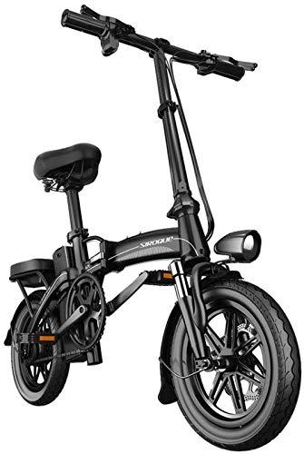 CLOTHES Bicicleta de montaña eléctrica, Bicicleta eléctrica for Adultos Electric Bike neumáticos de 14 Pulgadas 400W Motor 25 kmh Plegable E-Bici 30AH batería 3 Montar Modos,Bicicleta