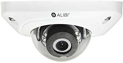 Alibi 4MP WDR Outdoor True Day & Night Wedge Dome IP Security Camera with 30' IR Distance, 2.8mm Fixed Lens, 2688x1520, 30fps, H.264, H.264 OVC, MJPEG, PoE, Vandalproof, White