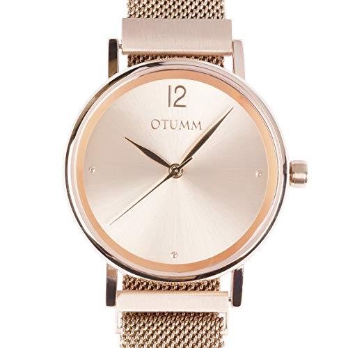 Otumm Reloj analógico para mujer 01NC03 con cierre...