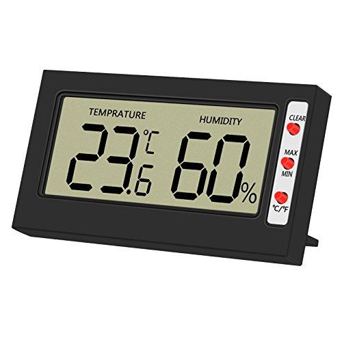Igrometro Termometro, Termoigrometro Digitale LCD Misuratore Temperatura e Umidità per interno esterno bagno serra stanza casa cucina ufficio