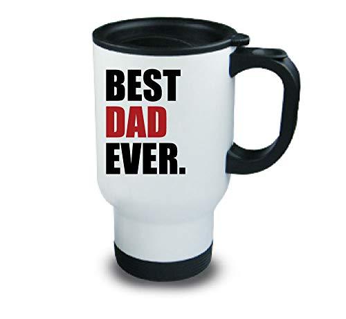 MEILLEUR PAPA jamais Métal tasse de voyage Rouge Fête des Pères Noël anniversaire