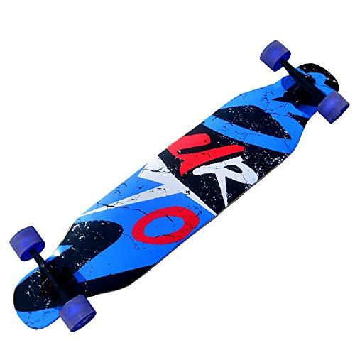 FUFU Patinetes Skateboard Crucero Principiante Patineta for Adultos Tabla Larga Juvenil Arce de 46 Pulgadas Patineta Profesional de Doble Patada Viaje en Taxi Gratis Patinetes para niños