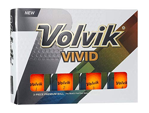 Volvik Vivid Golf Balls, Matte Orange (One Dozen) - 9726