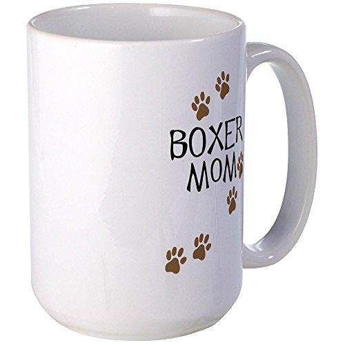 CafePress - Boxer Mom Large Mug - Coffee Mug, Large 15 oz....