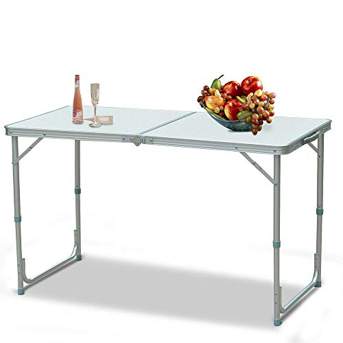 TimmyHouse 3 Feet Portable Folding Table Outdoor Picnic Camping Table Party Adjustable New