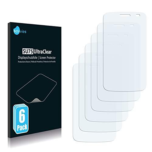 Savvies 6X Schutzfolie kompatibel mit LG Electronics Optimus E475 L1 II TRI Bildschirmschutz-Folie Ultra-transparent