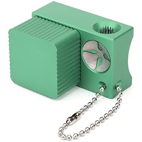 Outil de pointe de bâton, support de craie 4 en 1 en douceur, multifonction puissant pour outil de réparation de queue pour billard(green)