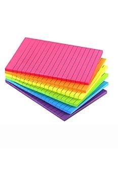 lined sticky notes 4x6