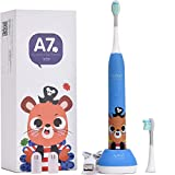 APIYOO Kids Electric Toothbrush, A7 Wireless Rechargeable Sonic...