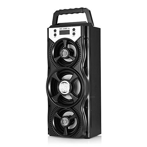 NBLYW draagbare luidspreker, draadloze, bluetooth-luidspreker, 8 W, stereo-luidspreker, stereo, draadloos, voor bas, LCD-display, TF-kaart