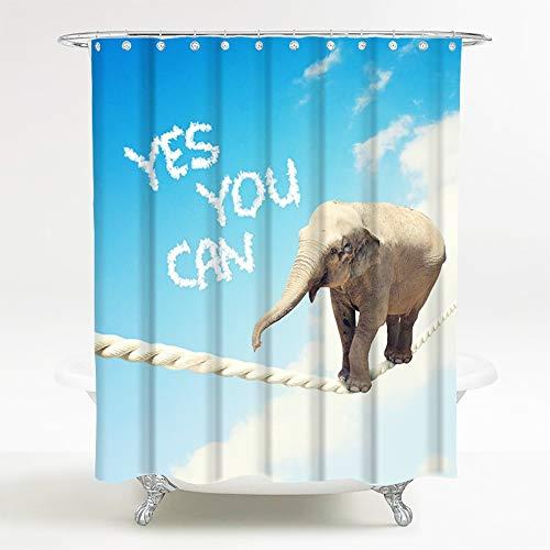 Sanilo Duschvorhang, viele schöne Duschvorhänge zur Auswahl, hochwertige Qualität, inkl. 12 Ringe, wasserdicht, Anti-Schimmel-Effekt (180 x 200 cm, Yes You can)