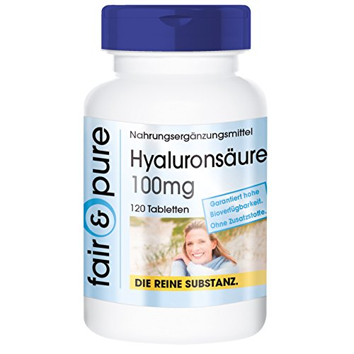 Ácido hialurónico 100 mg - Vegano - Alta pureza - 120 Comprimidos