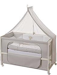 roba Beistellbett, Roombed, Babybett 60x120 cm 'Heartbreaker' ,Anstellbett  zum Elternbett mit kompletter Ausstattung